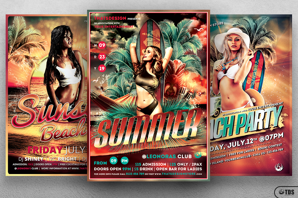 Beach Party Flyer Bundle V1 example image 2