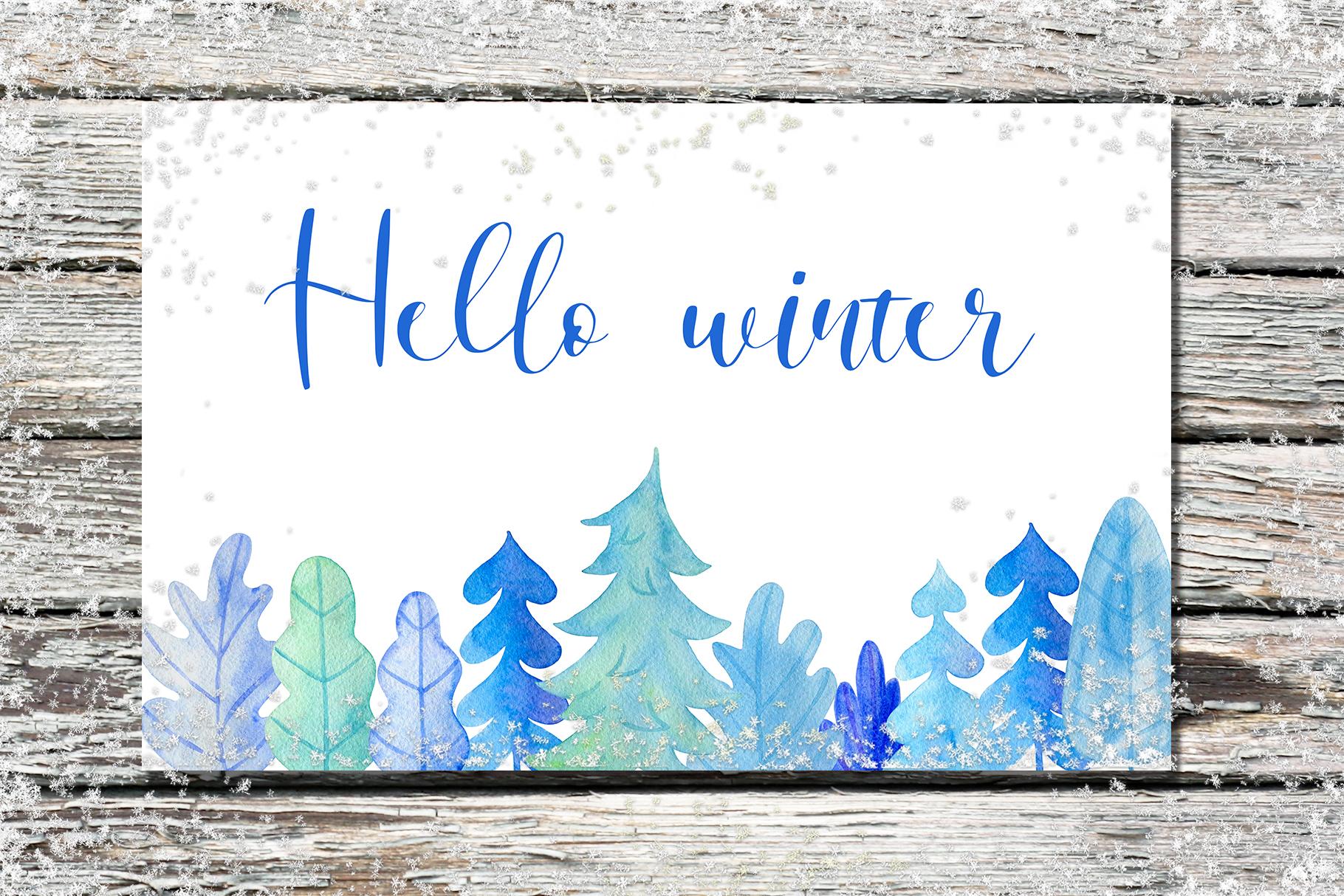 Winter Watercolor Design Kit example image 9