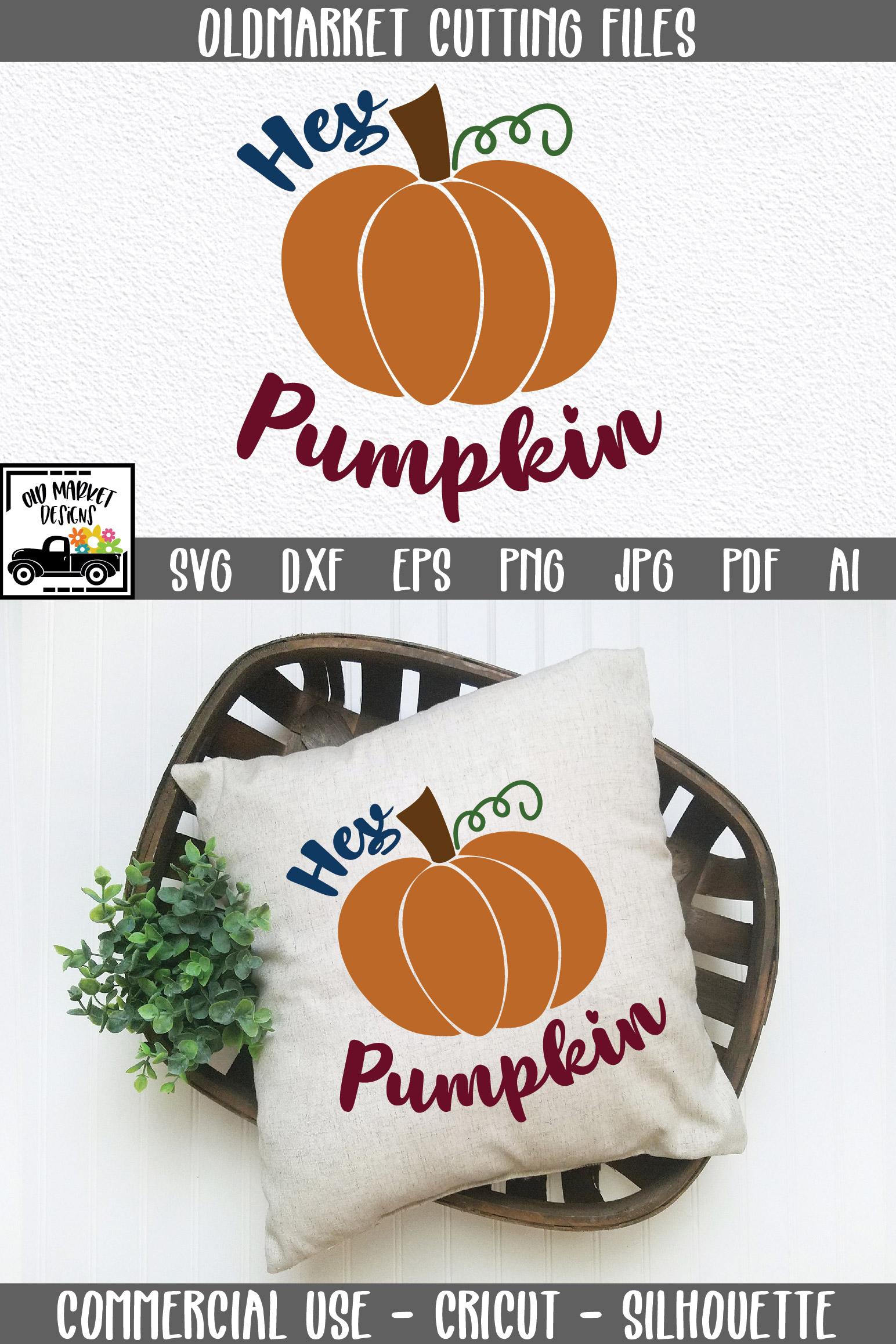 Hey Pumpkin SVG Cut File - Fall Pumpkin SVG example image 10