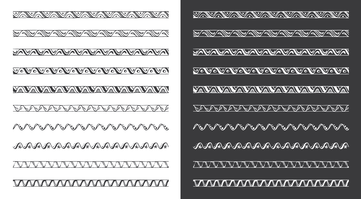 Hand Drawn Pattern Brushes Vol. 01 example image 5