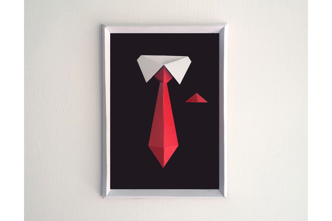 DIY Gentleman Frame - 3d papercraft example image 1