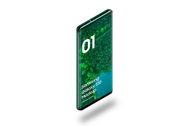 Samsung Galaxy S10 - 21 Mockups - 5K - PSD example image 12