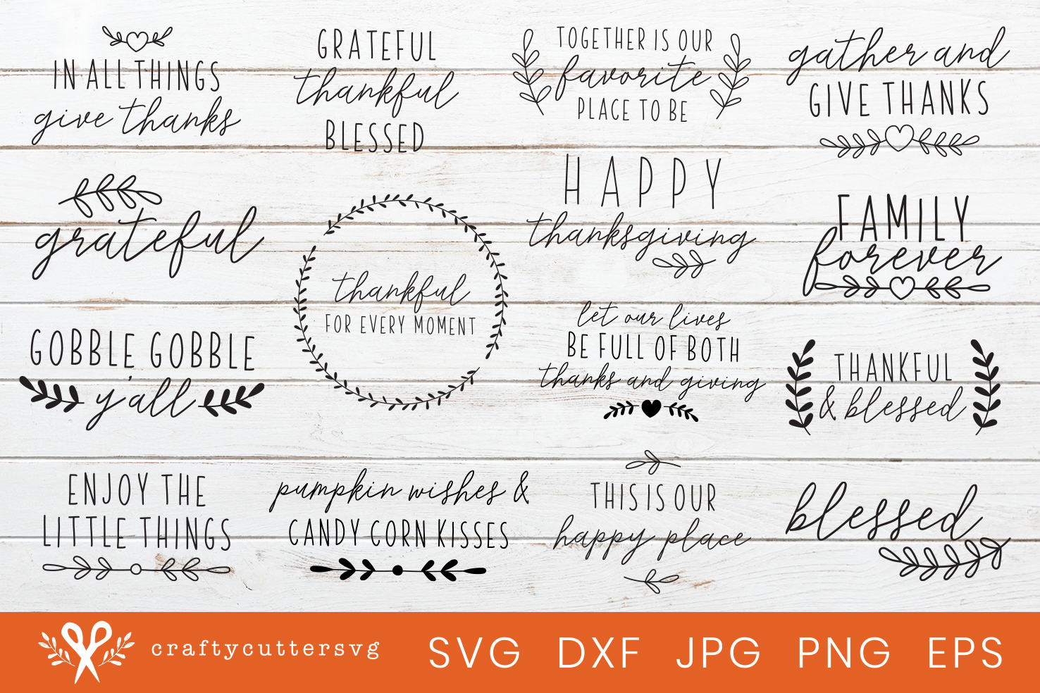 Thanksgiving Svg Bundle Cut Files House Sign Clipart example image 2