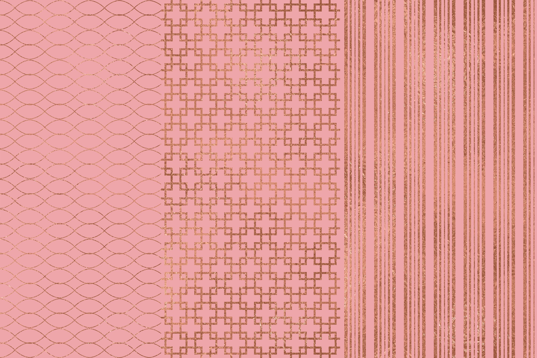 Rose Gold Pink Seamless Pattern example image 2