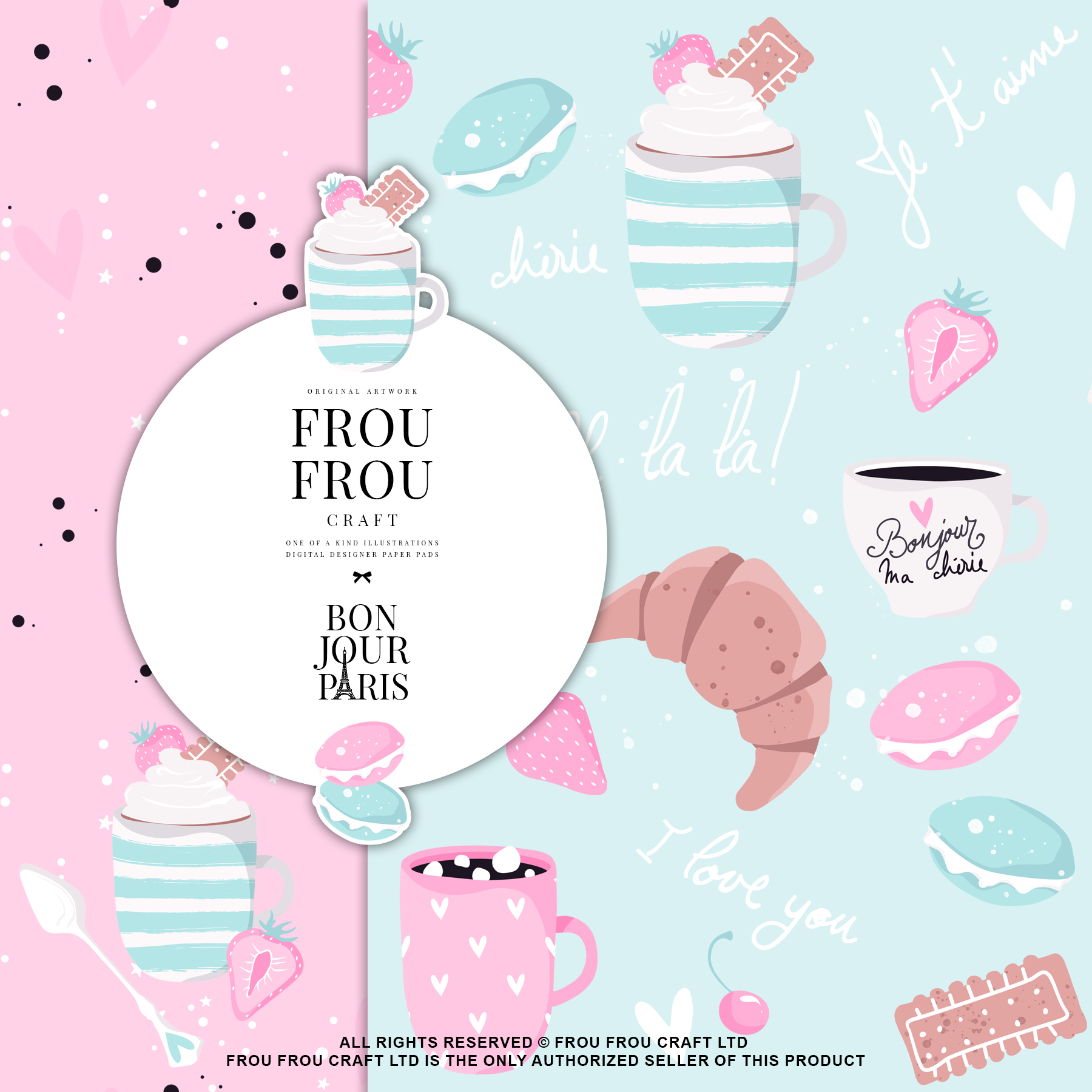 Paris Bakery Sweets Macaroons Cake Paper Pack example image 4