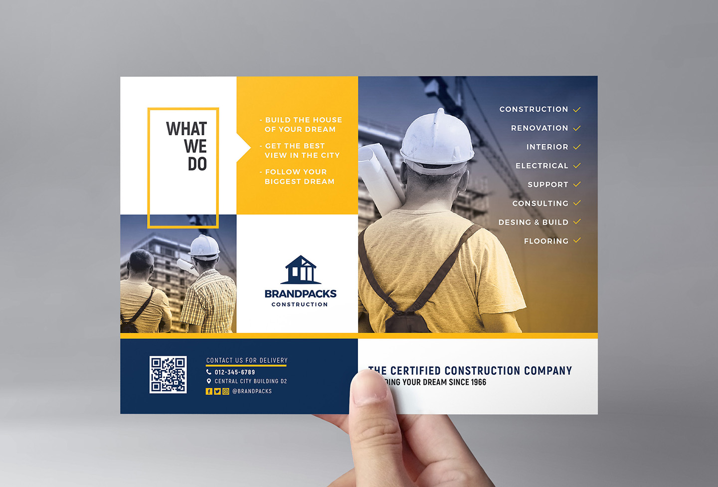 Construction Company Flyer Template example image 2
