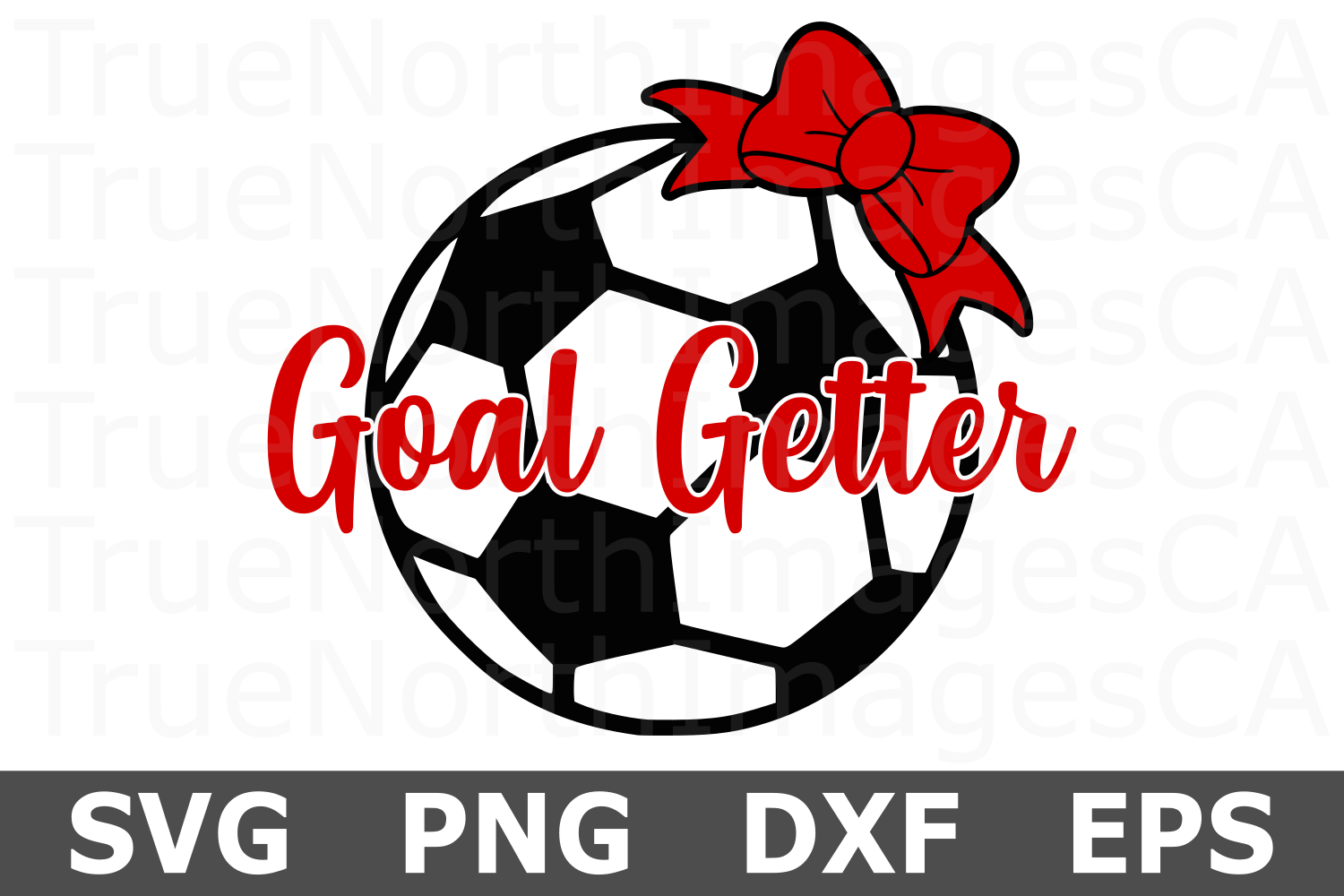 Soccer Goal Getter - A Sports SVG Cut File example image 2