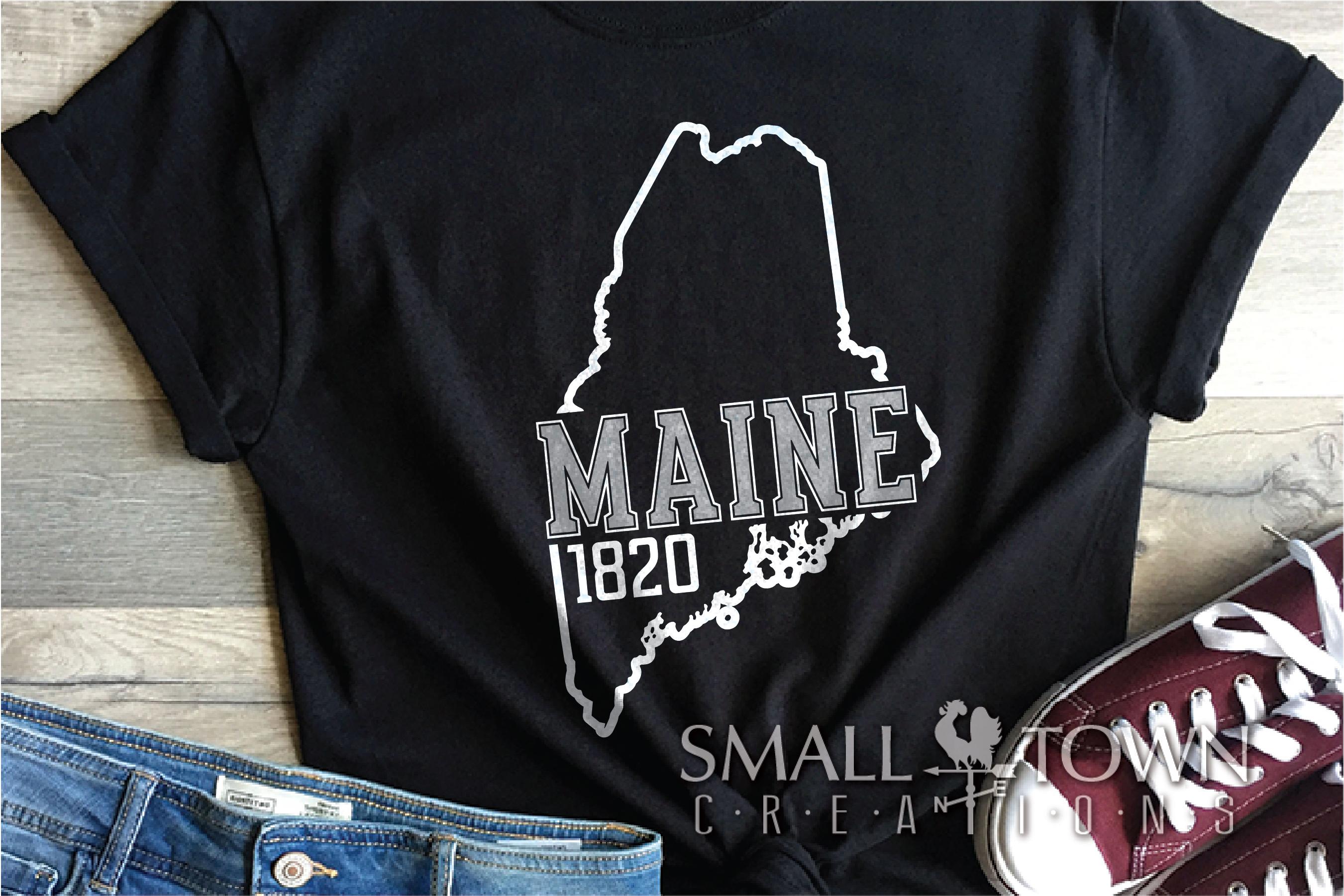 Maine, Vacationland - slogan, Logo, PRINT, CUT & DESIGN example image 6