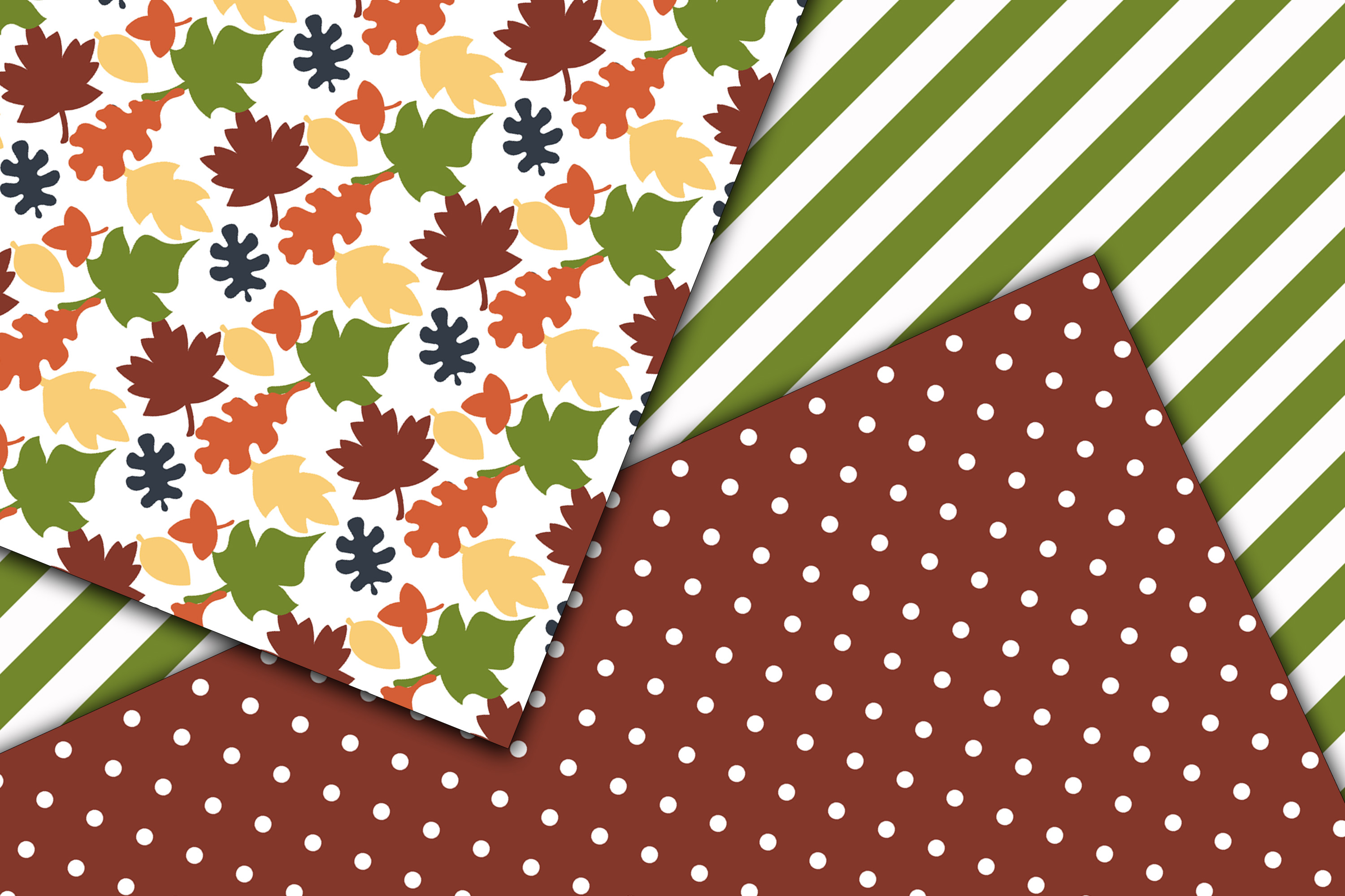Fall Colors Digital Papers example image 2