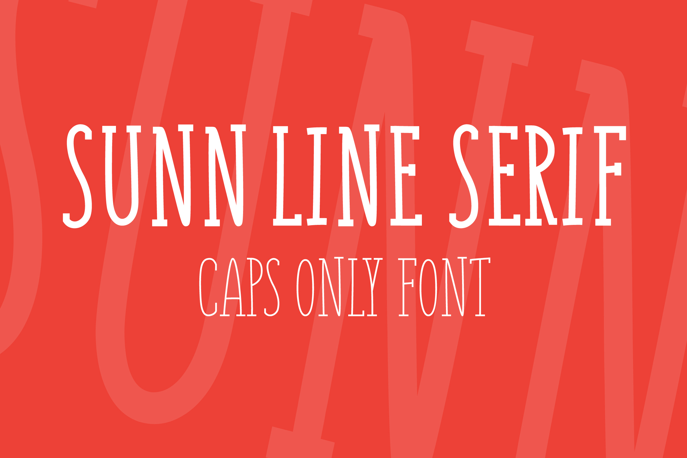 SUNN Serif Line Caps Only Font example image 1