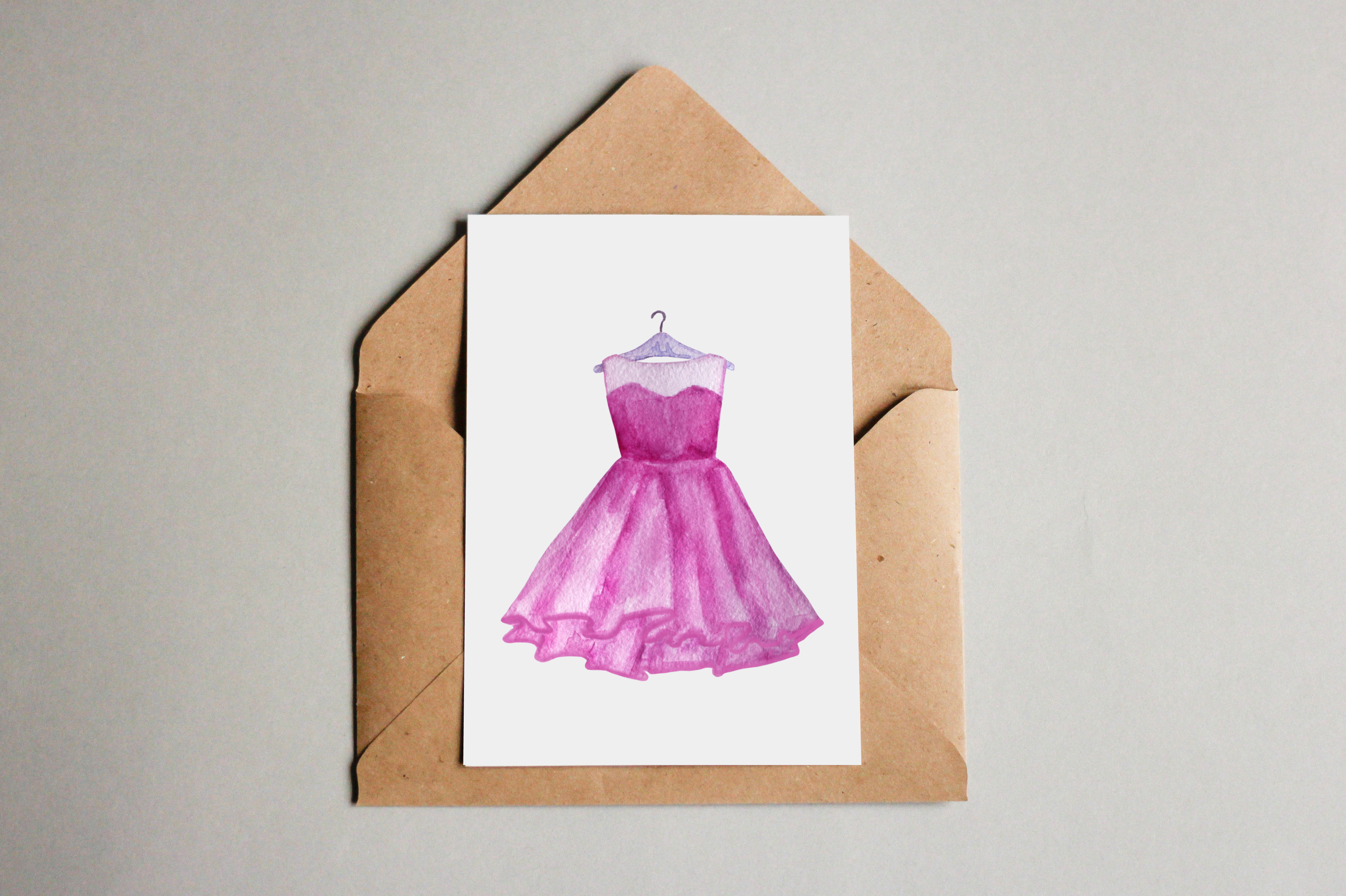 Fashion Watercolor Clipart example image 3