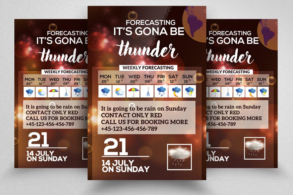 4 Weather Forcasting Flyers Bundle example image 5