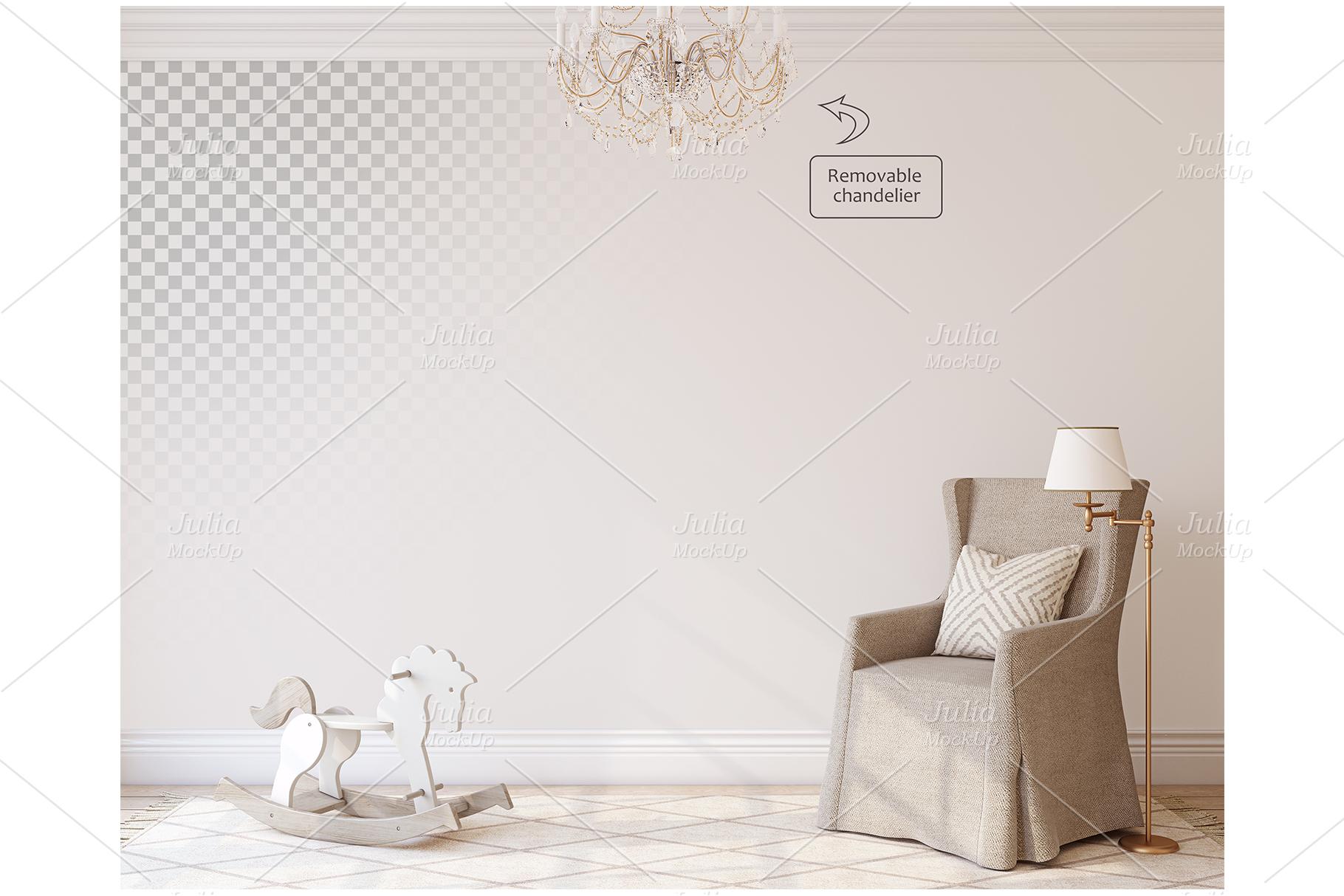 Romantic nursery. Wall&Frames Mockup. example image 4