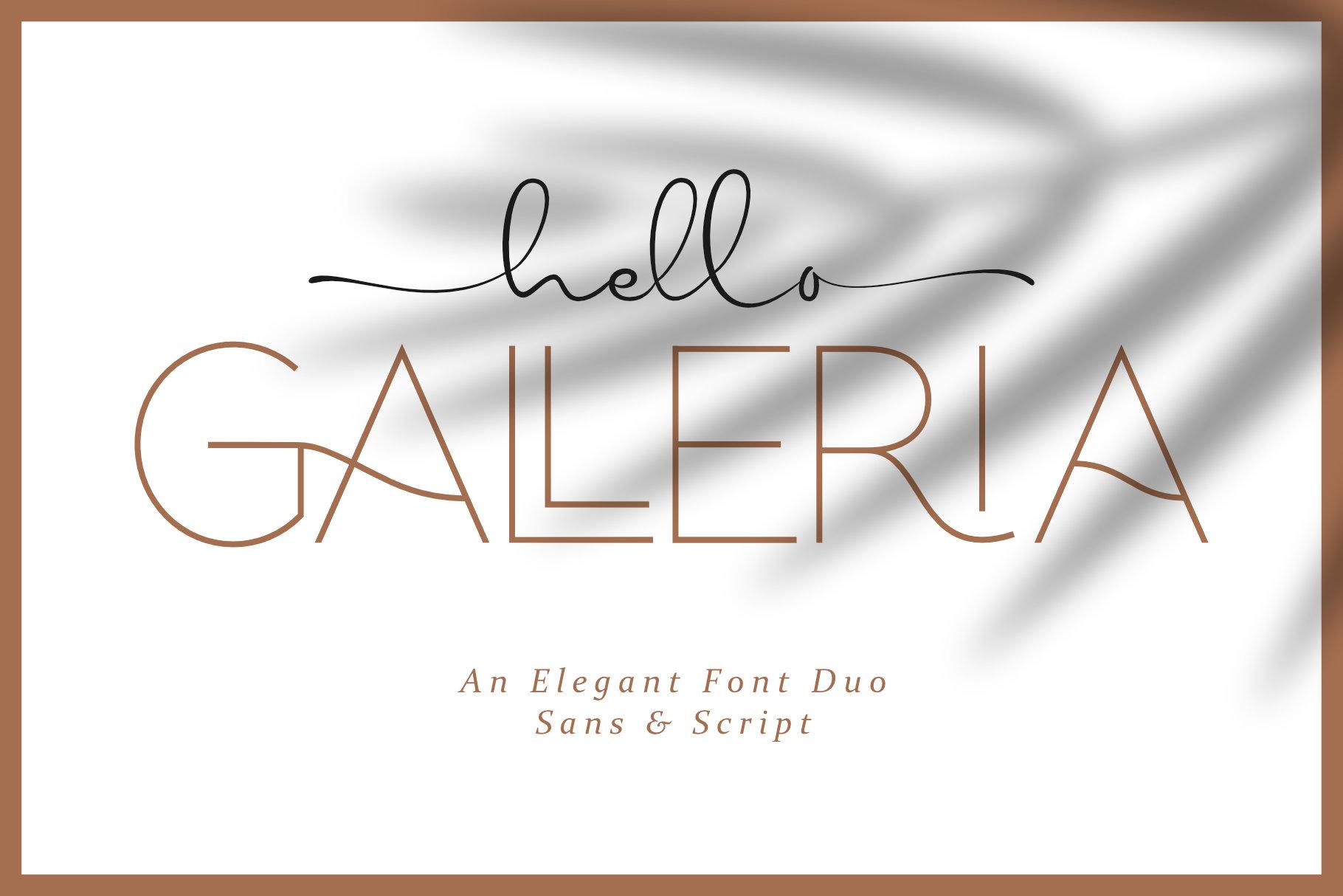 Hello Galleria Font Duo example image 1