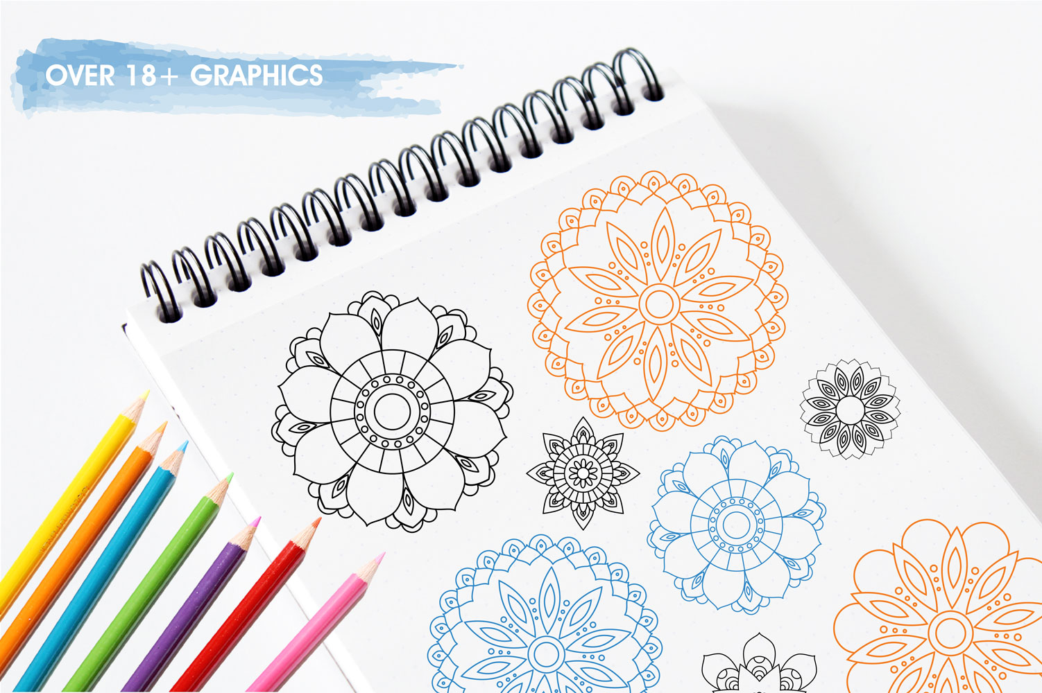 Beautiful Mandala Cute Graphics example image 3
