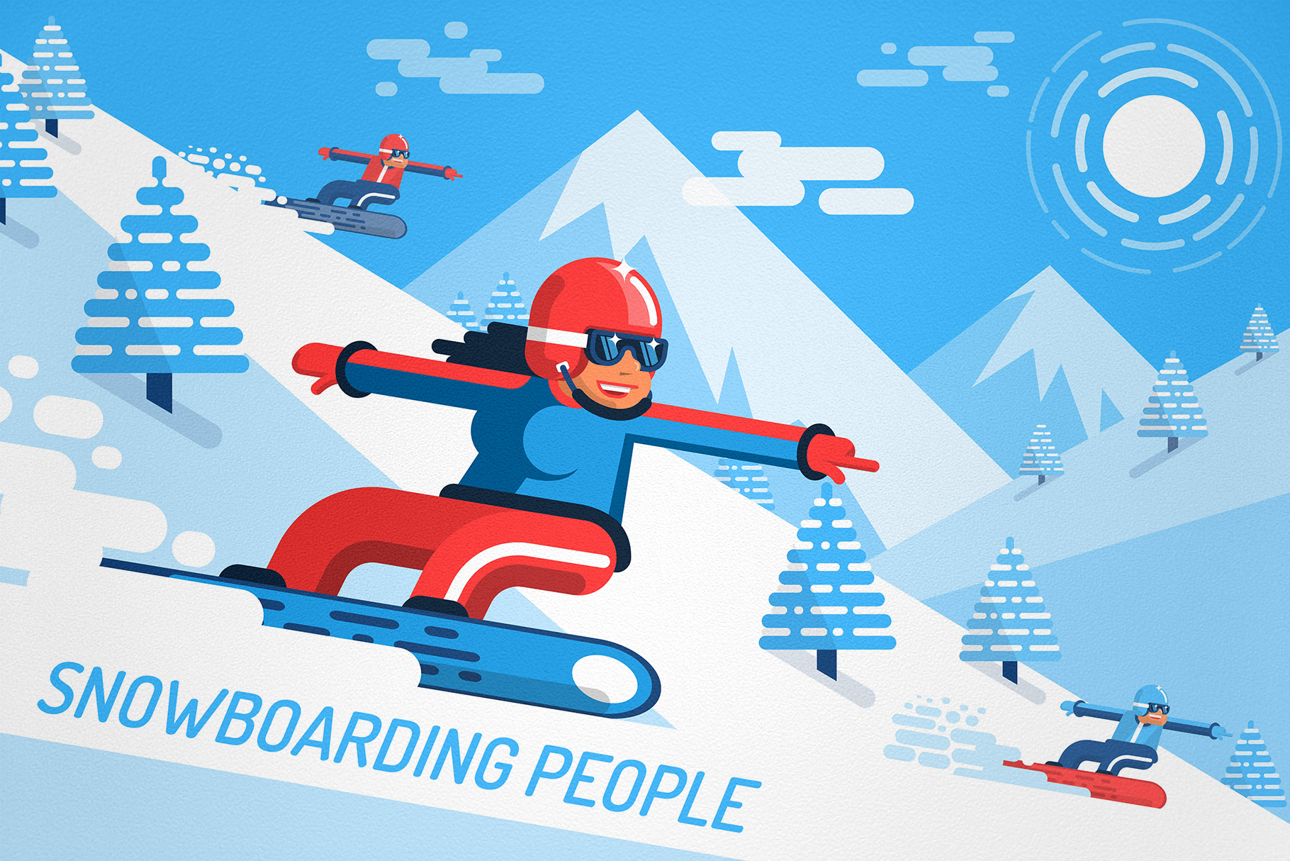 Snowboarding People example image 4