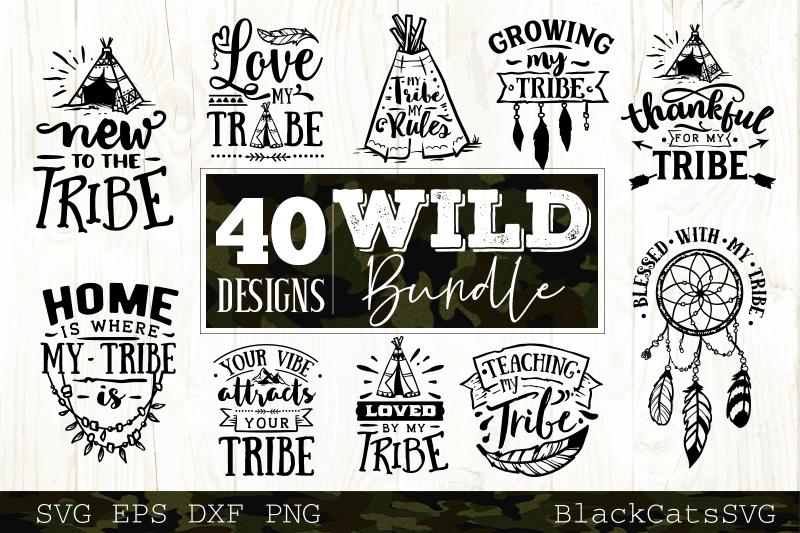 Wild and Boho SVG bundle 40 designs Wild SVG bundle example image 5