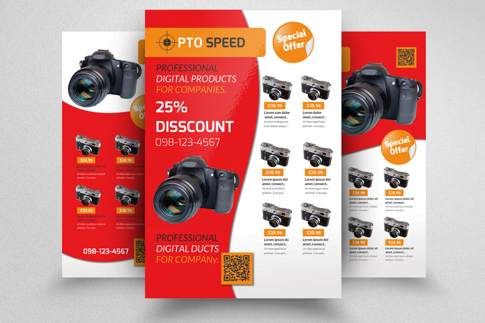 6 Products Promotion Flyers Bundles example image 7