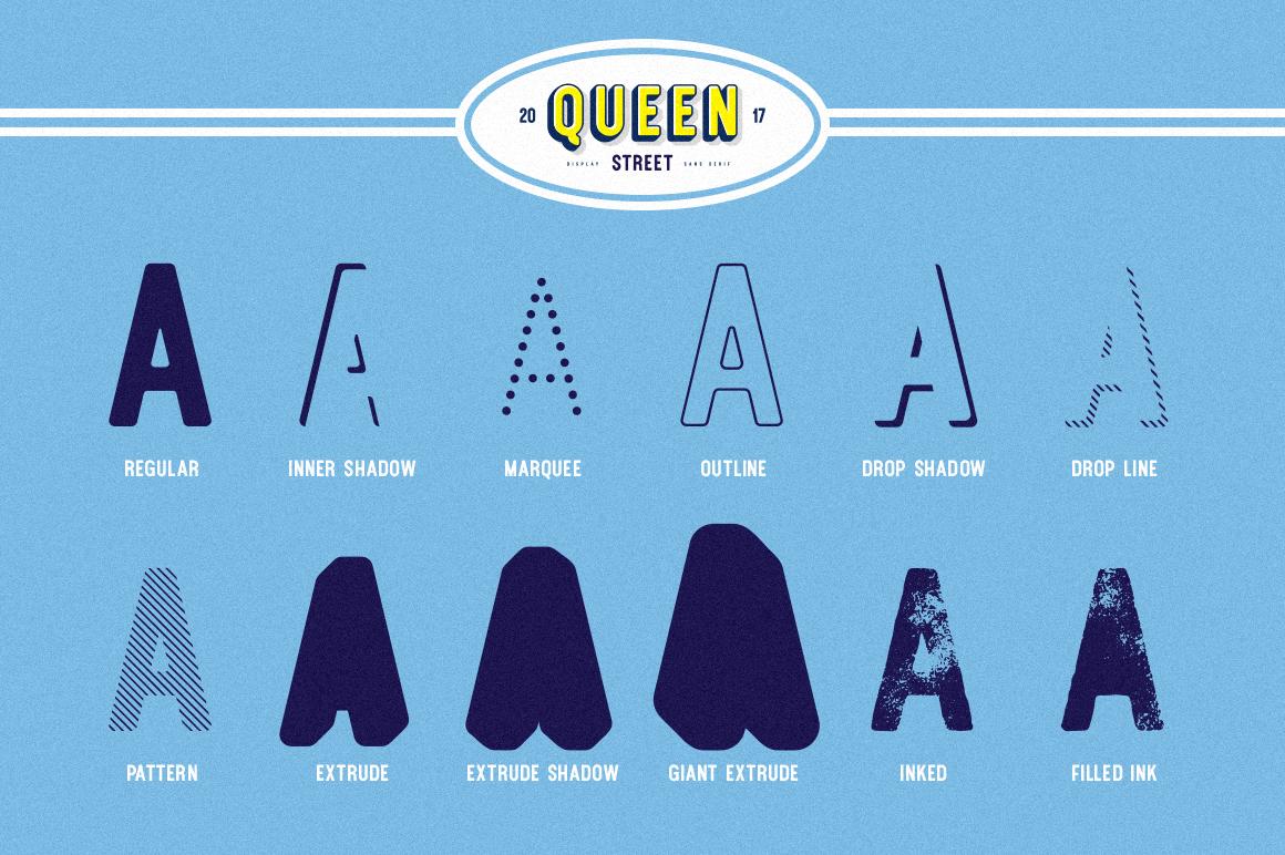 Queen Street Display Font example image 2