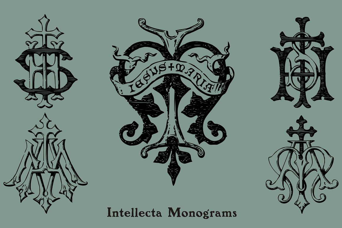 Intellecta Monograms Collection SUPER PACK example image 11