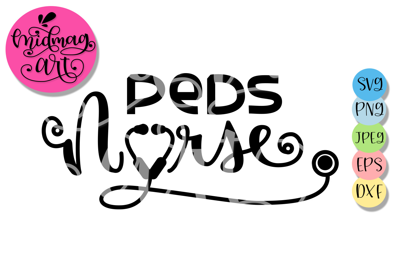 Peds nurse svg, Nurse svg example image 2