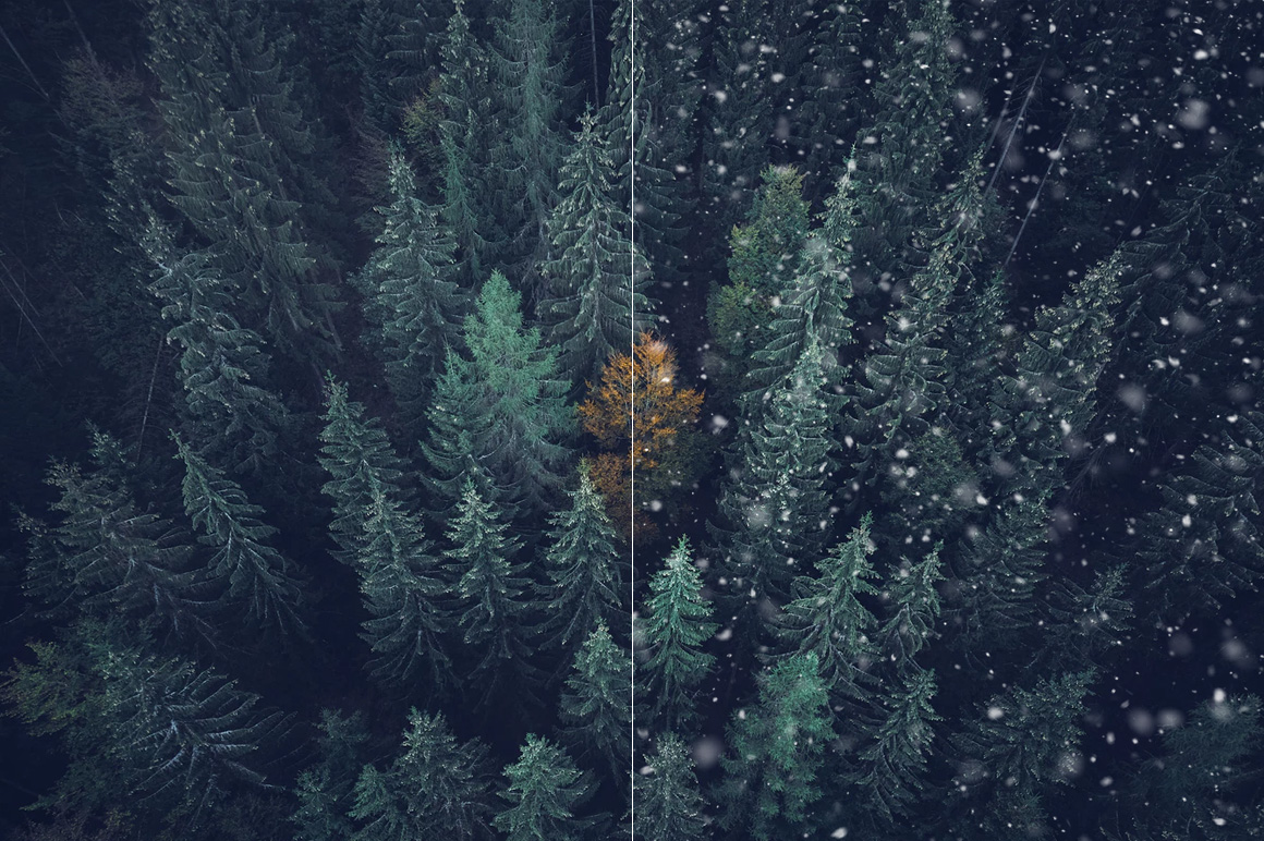 100 Snow Overlays example image 8
