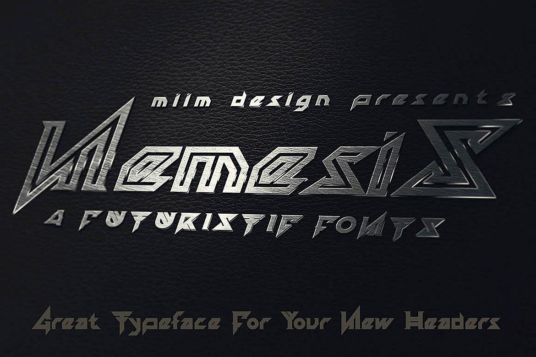 Nemesis - Futuristic Font example image 3