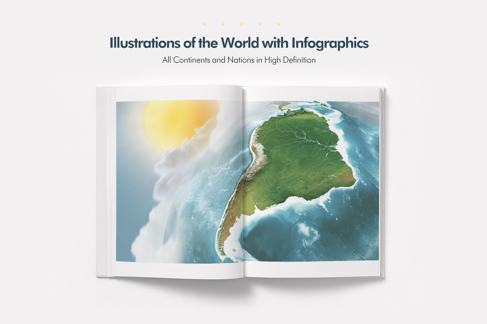 Illustrations of the World with Infographics example image 1