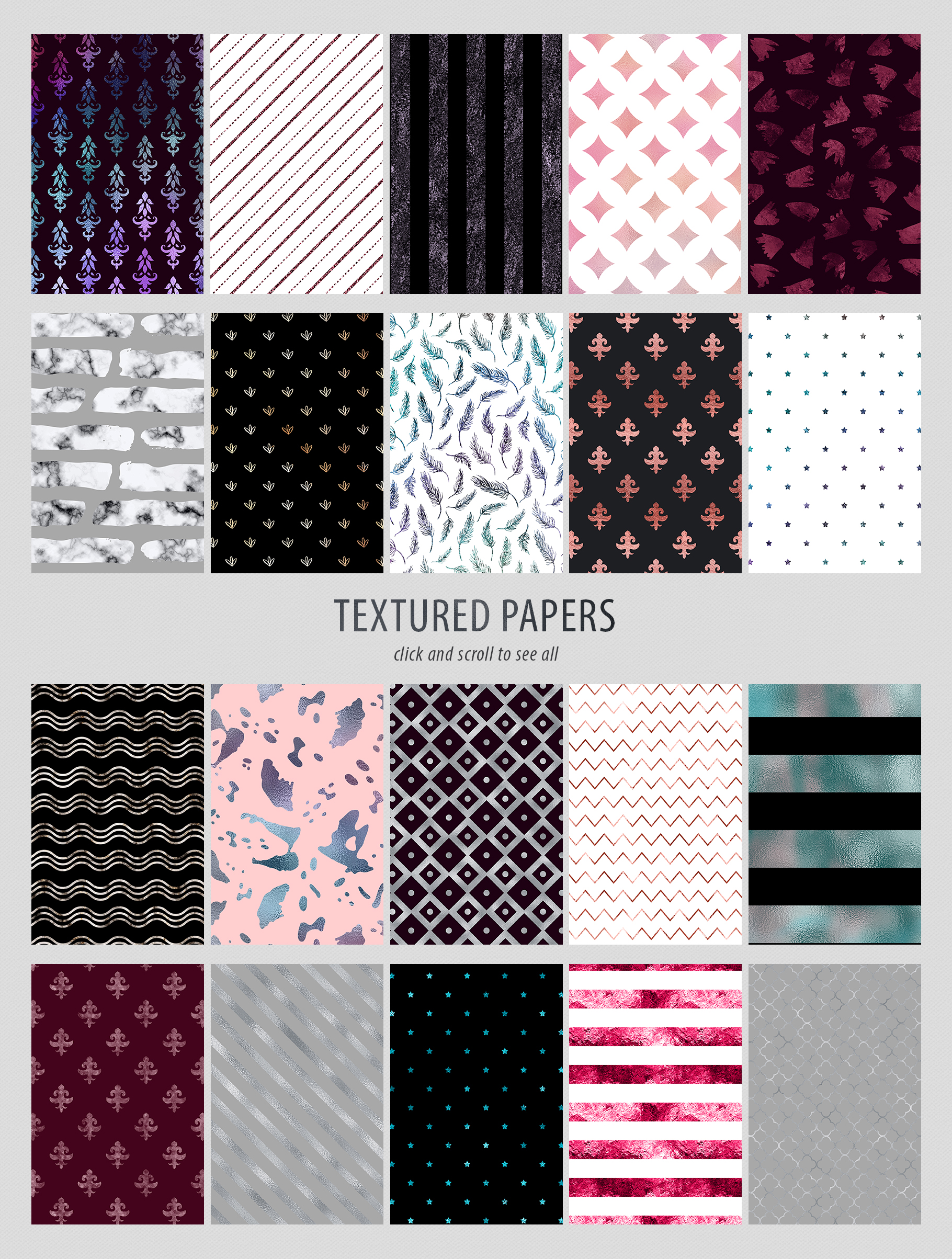 Luxe - 200 Textures and Patterns - Foil, Glitter, Marble example image 19