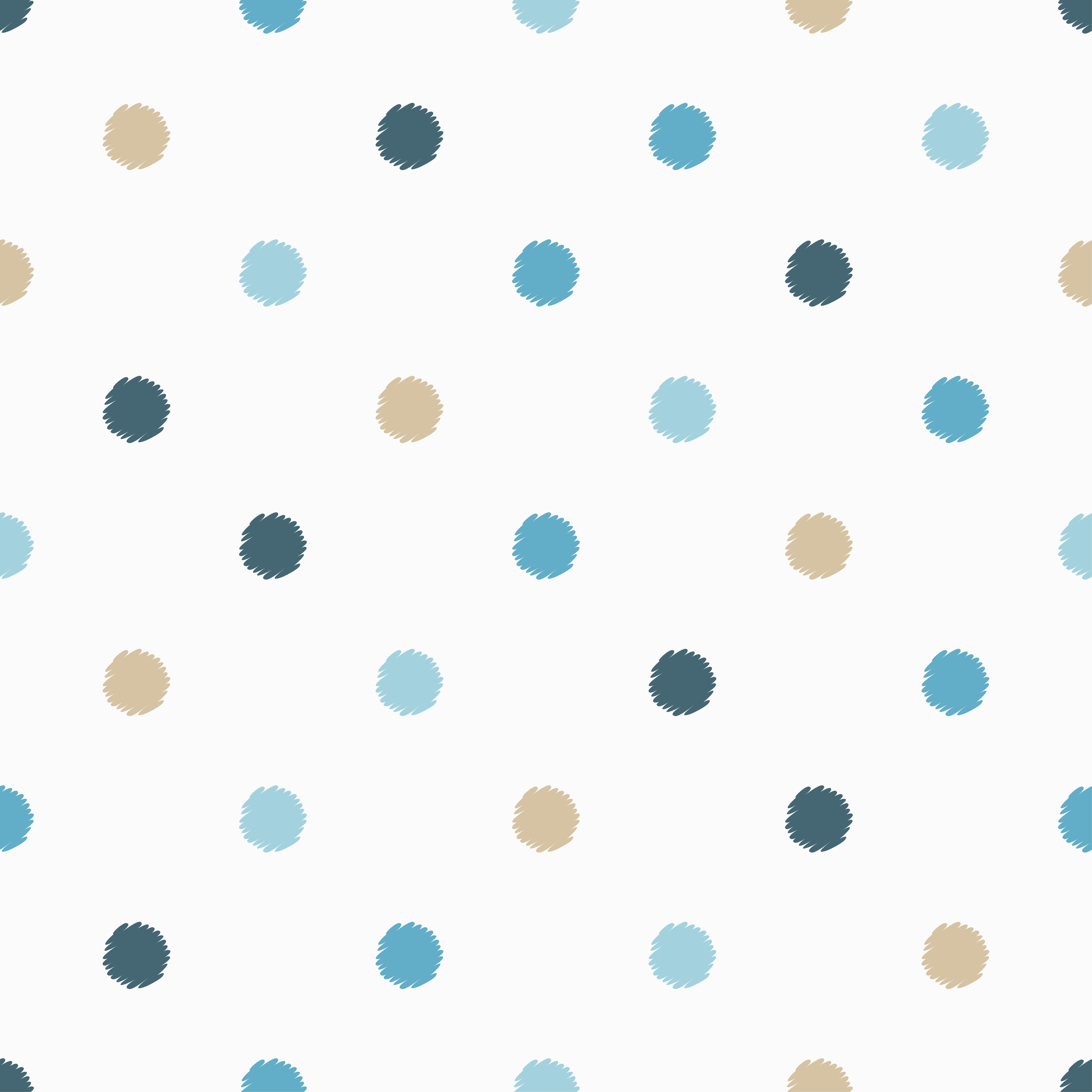 Polka dot seamless pattern. Scribble texture.  example image 2