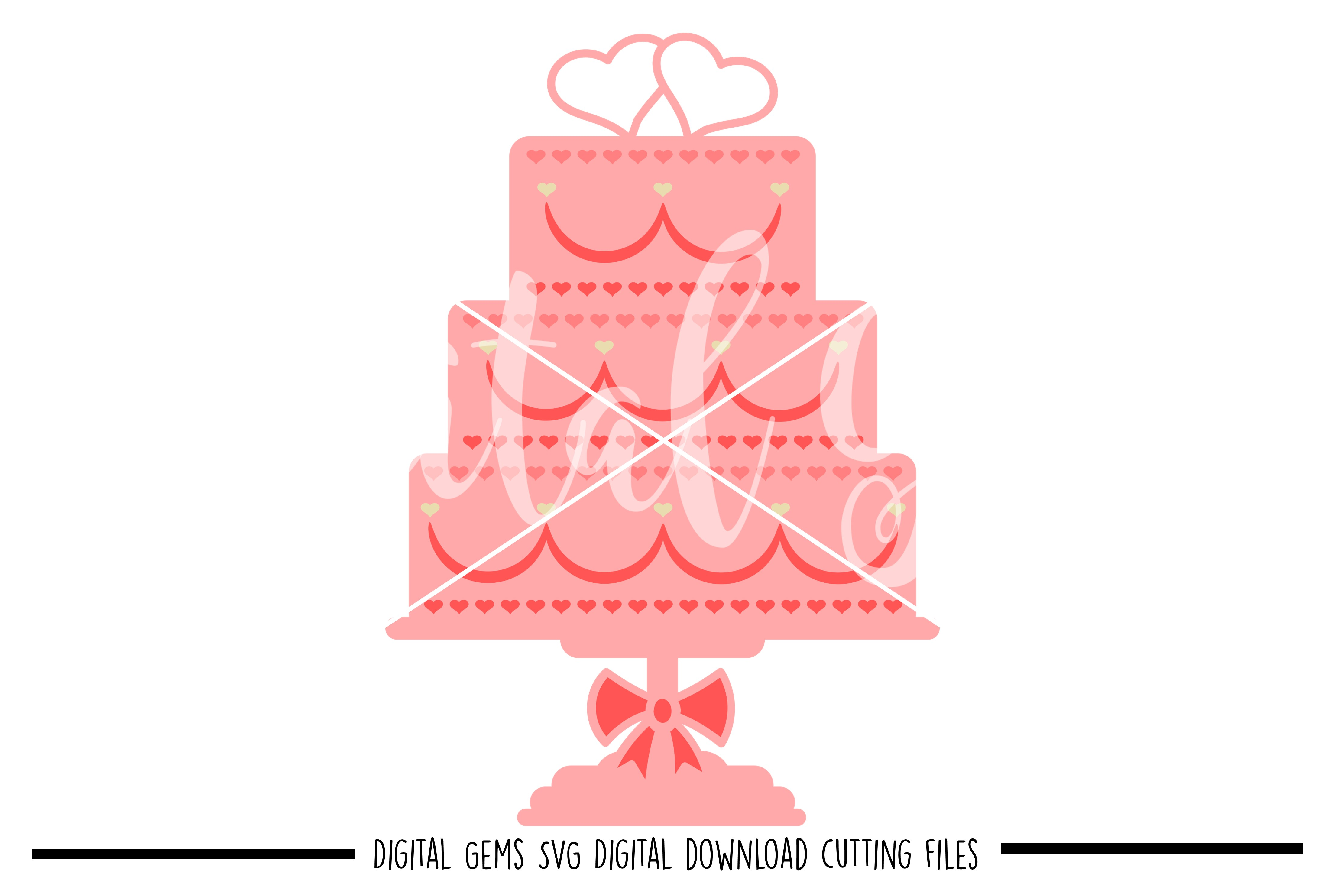 Wedding cake SVG / PNG / EPS / DXF Files example image 1