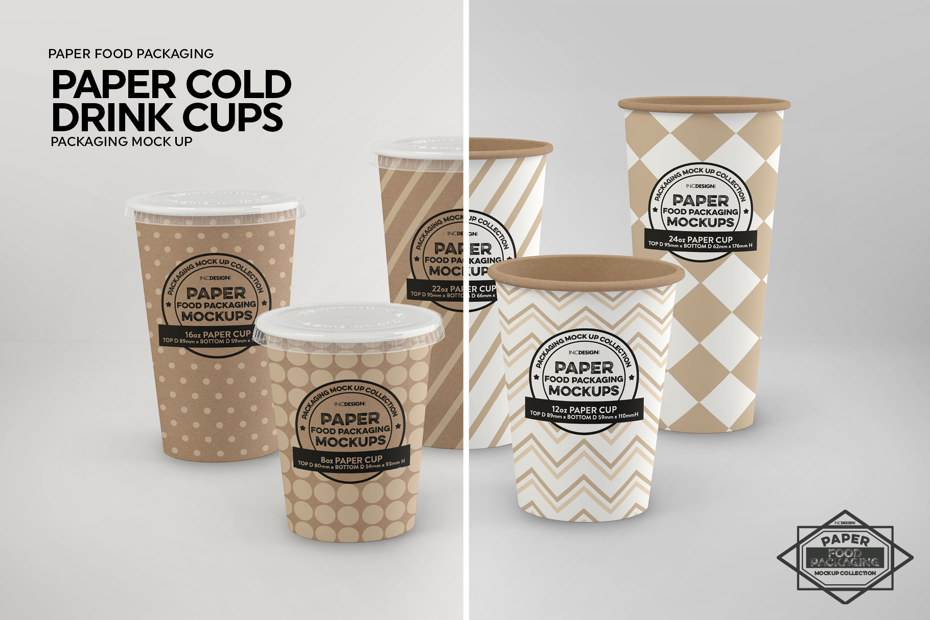 Paper Drink Cups Packaging Mockup example image 3