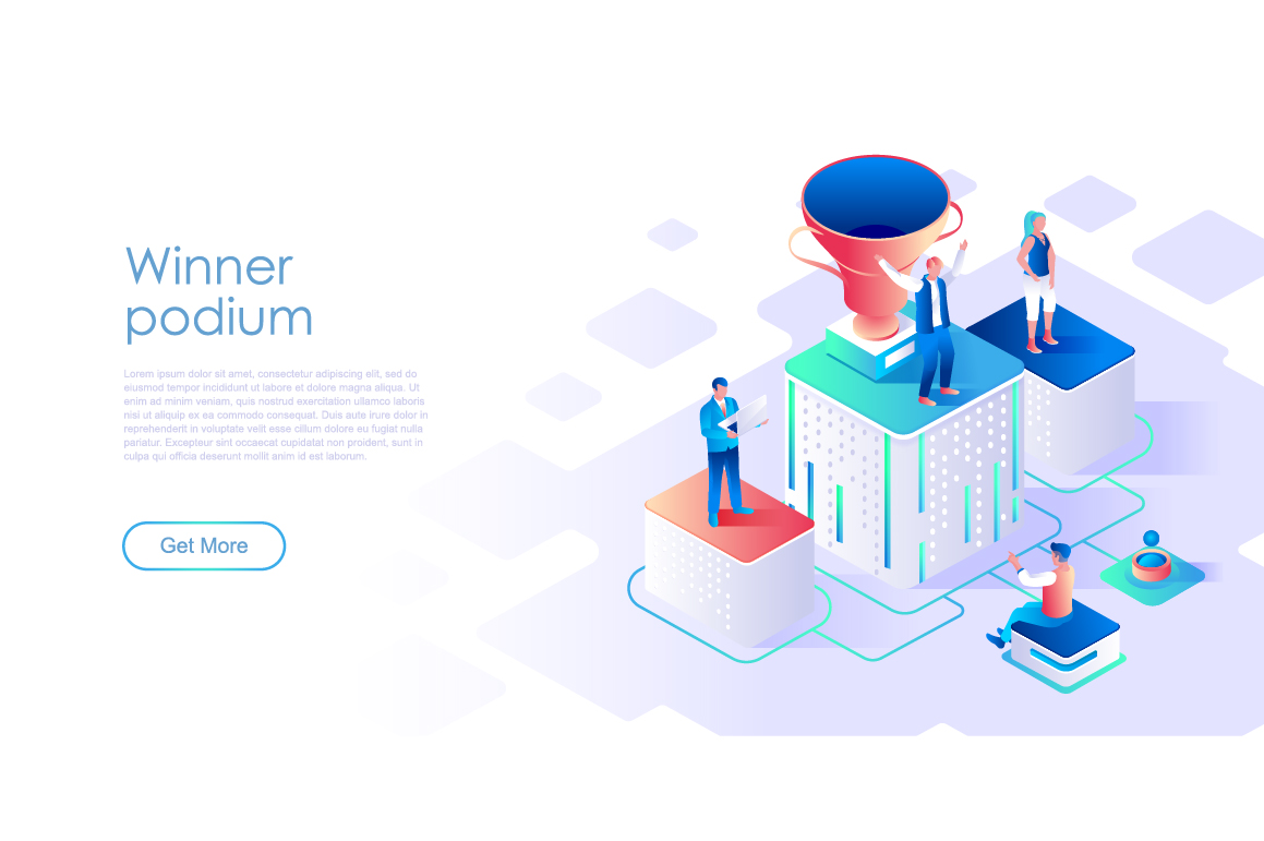 Bundle Isometric Landing Page Template Header example image 4