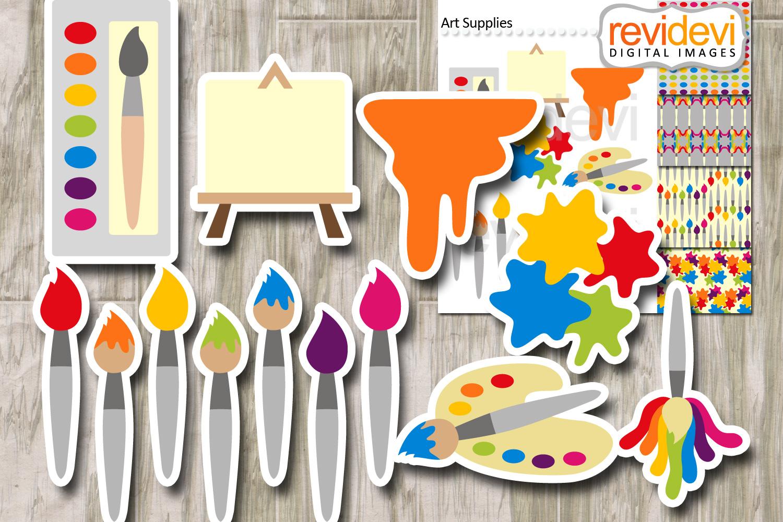 Art supplies - Painting, brush paint, canvas, palette example image 2