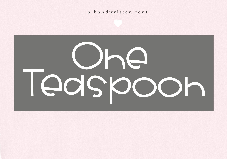 One Teaspoon - Handwritten Font example image 1