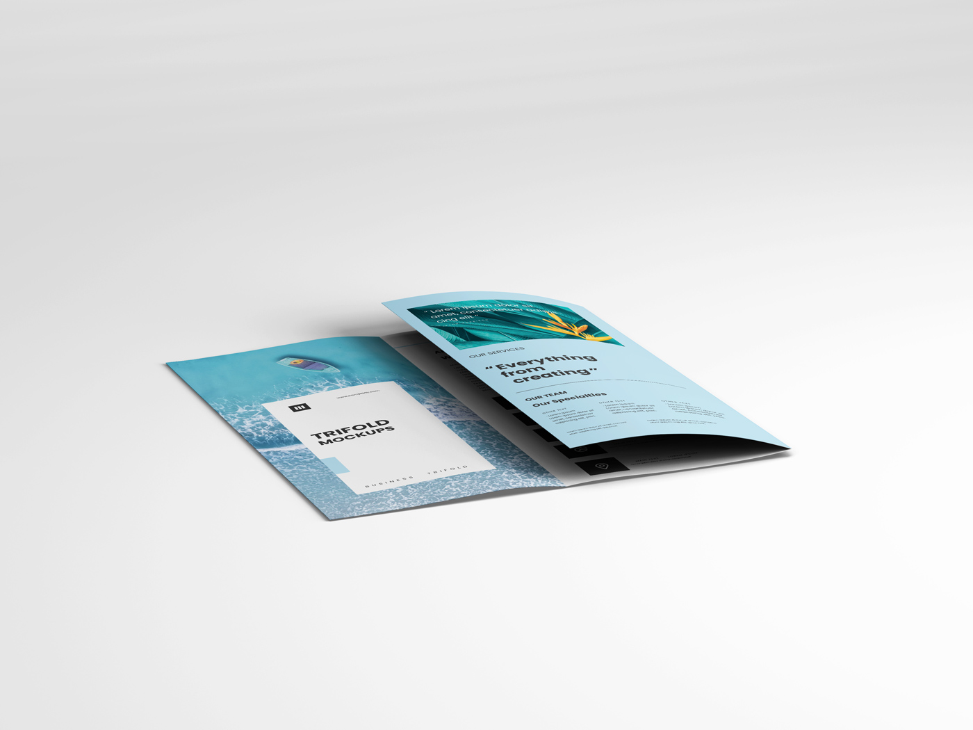 A4 Trifold Mockups V3 example image 7