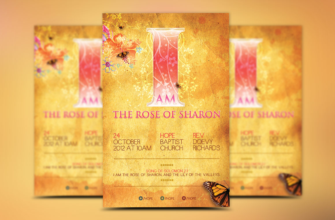 Rose of Sharon Church Flyer Template example image 2
