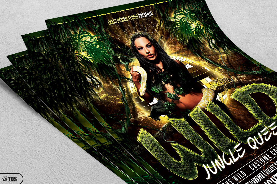 Wild Party Flyer Template example image 3