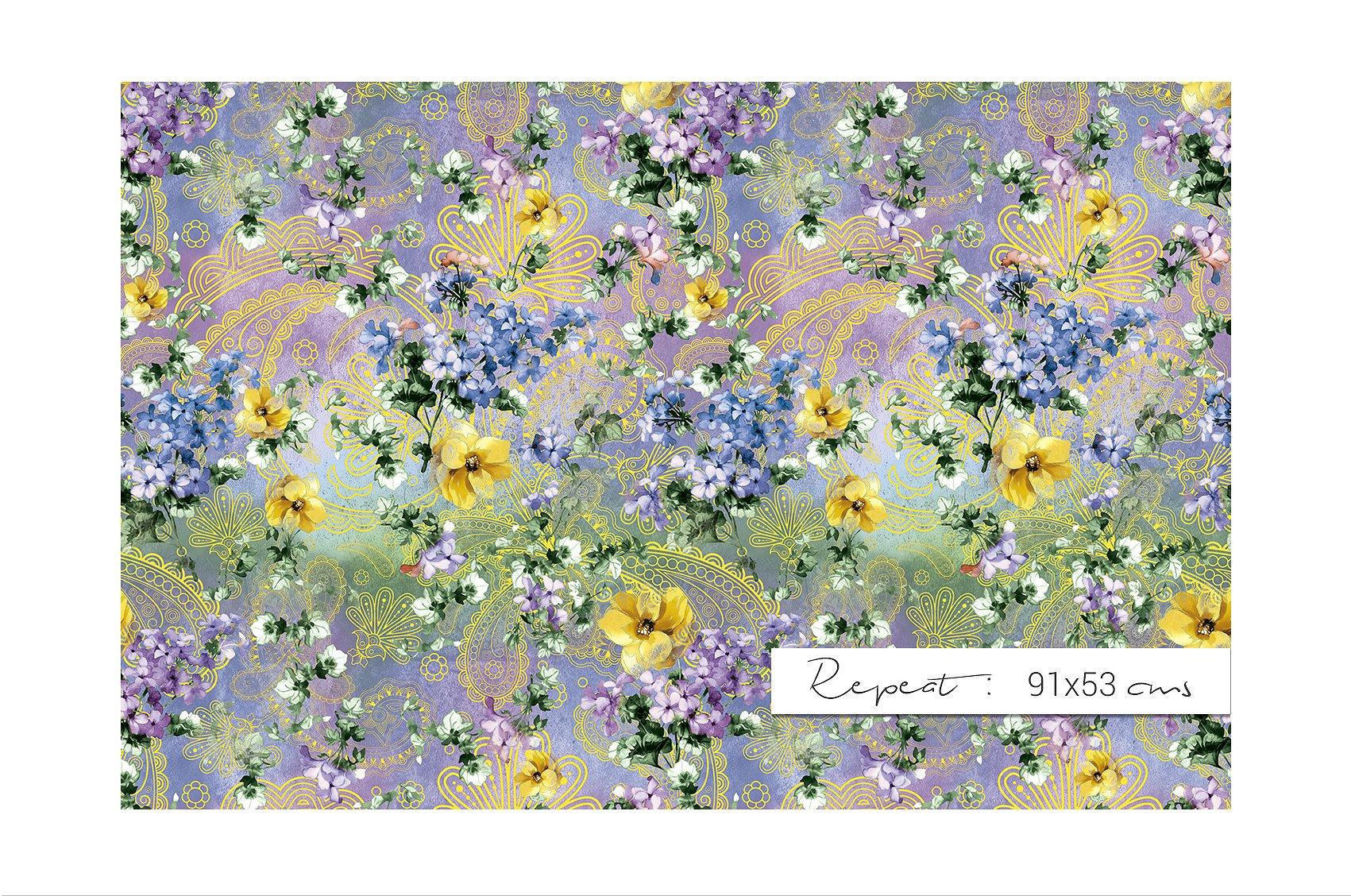 Garden of Eden Flowers Patterns clipArt example image 8