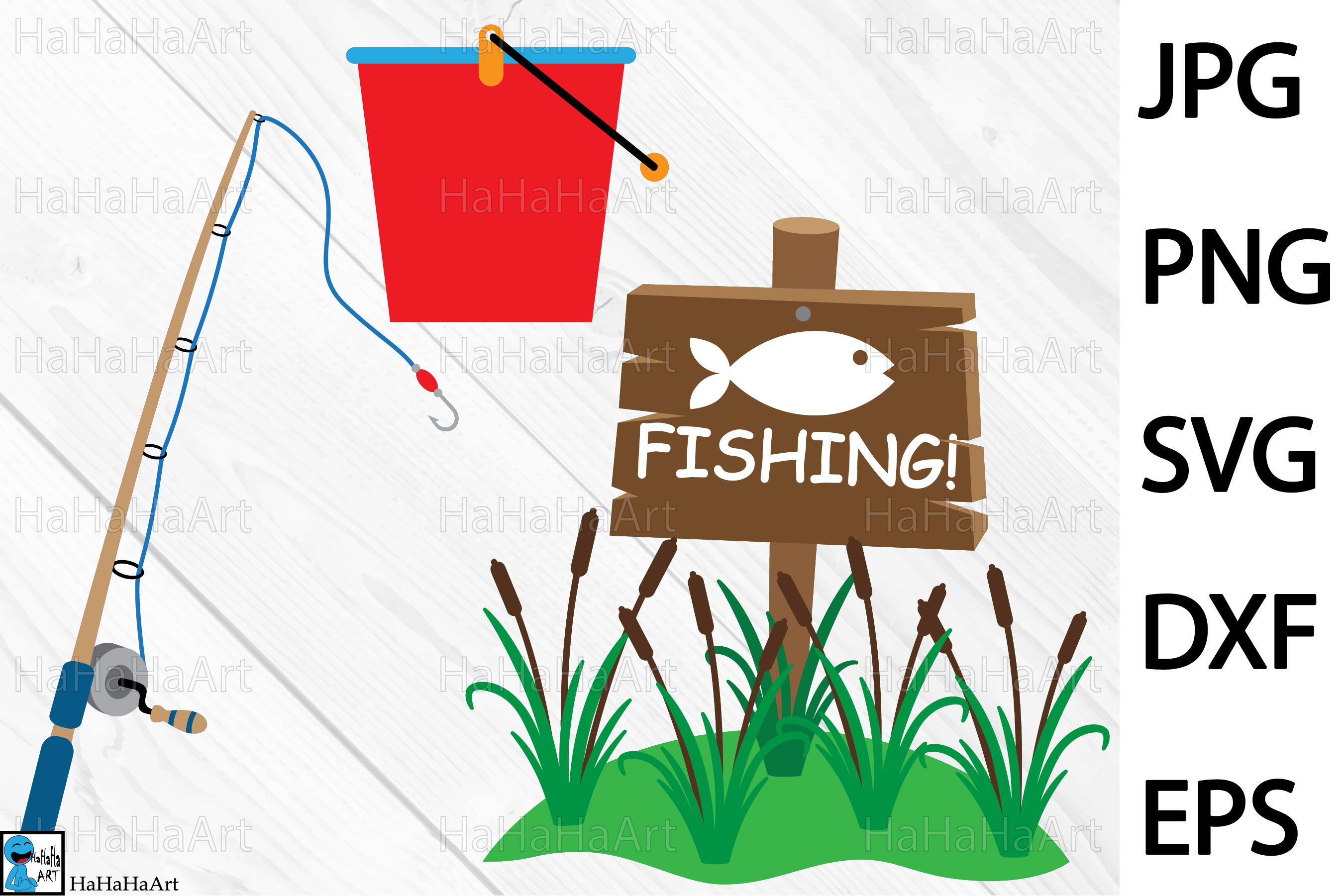 Fishing Designs - Clip art / Cutting Files 101c example image 2