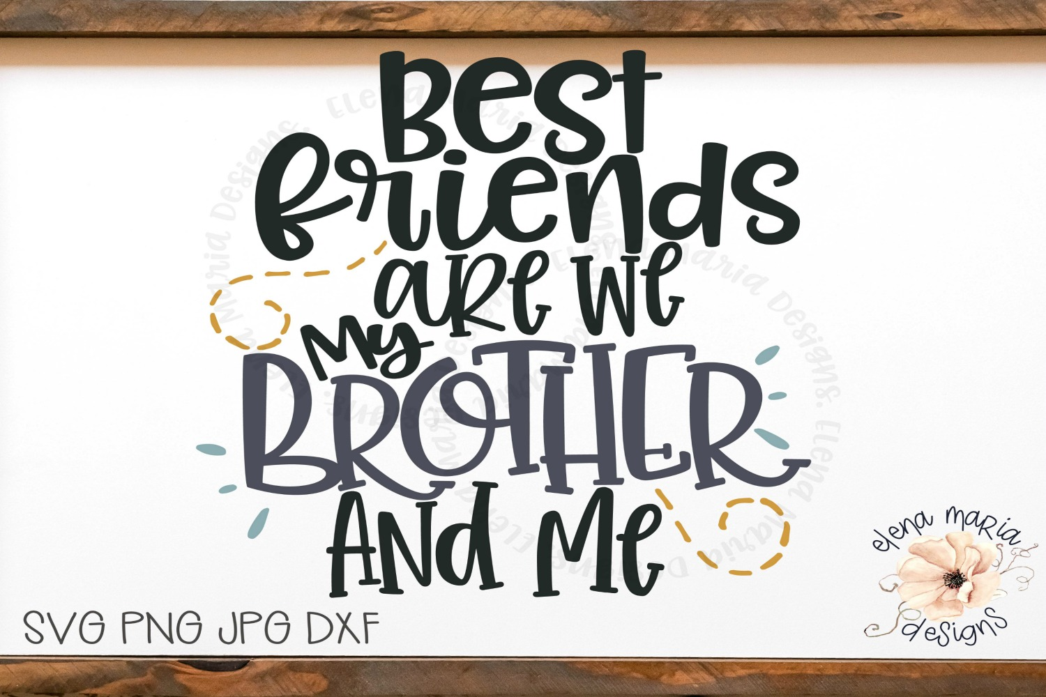 Best Friend | Brothers Svg File and Cut Files For Crafting example image 2