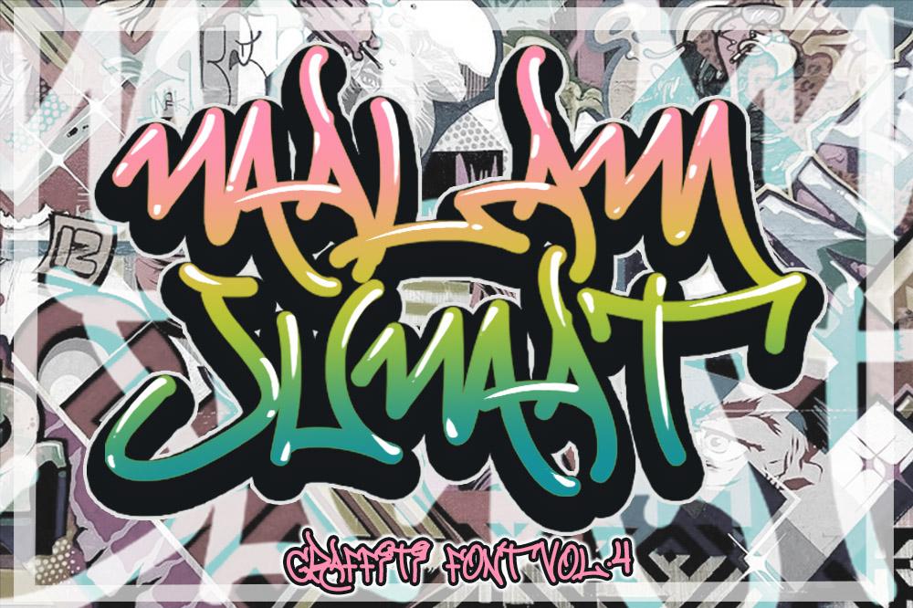 MALAM JUMAT GRAFFITI FONT VOL.4 example image 1