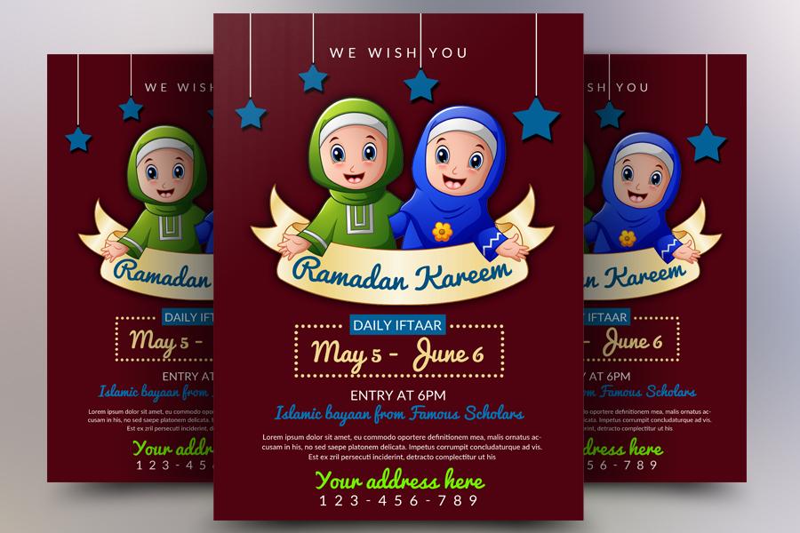 Ramadan Mubarik Flyer Template example image 1