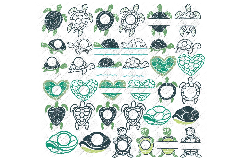 Download Sea Turtle SVG Monogram Bundle in SVG/DXF/PNG/JPEG/EPS