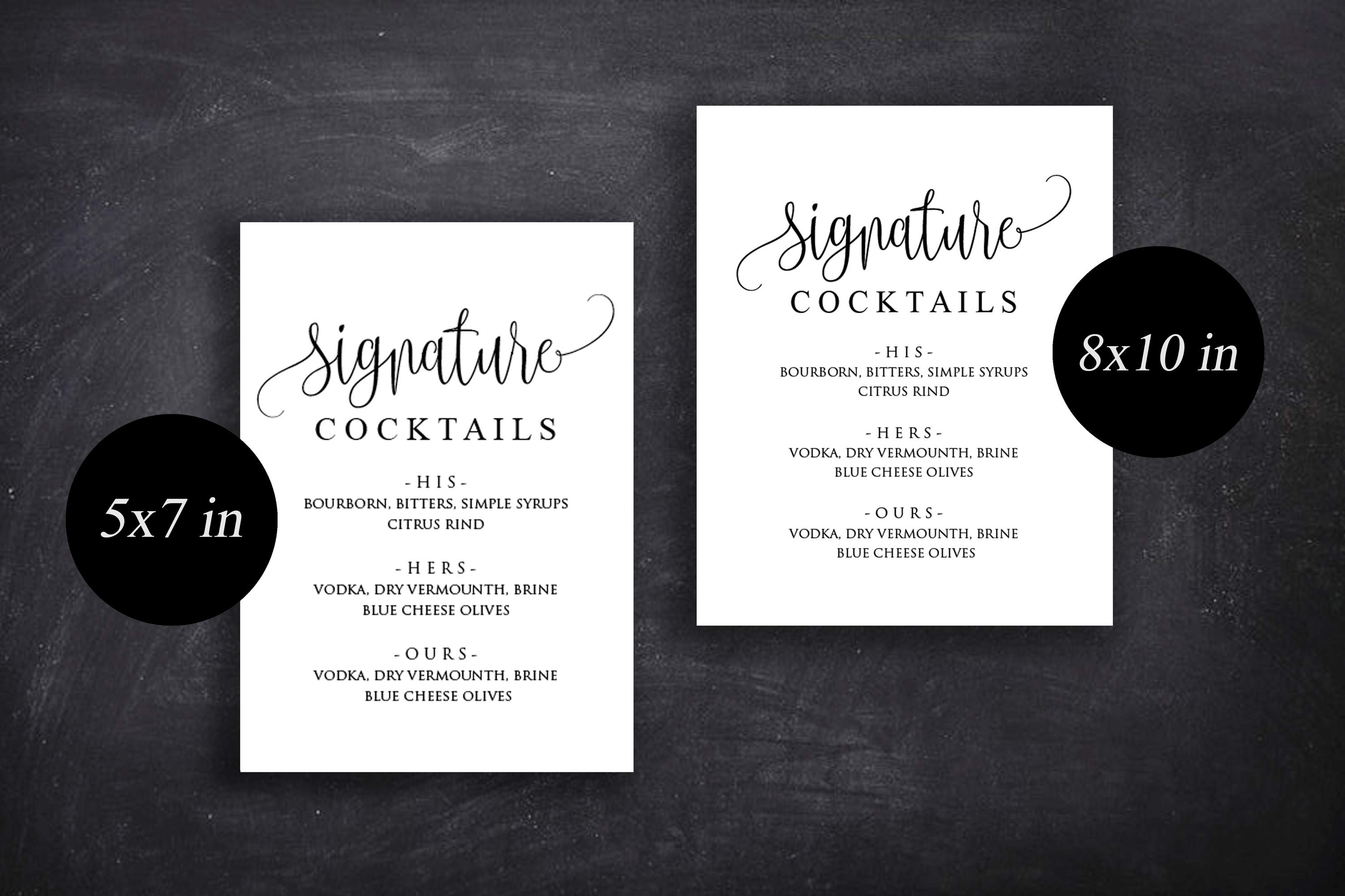 Signature Cocktail Sign Wedding example image 6