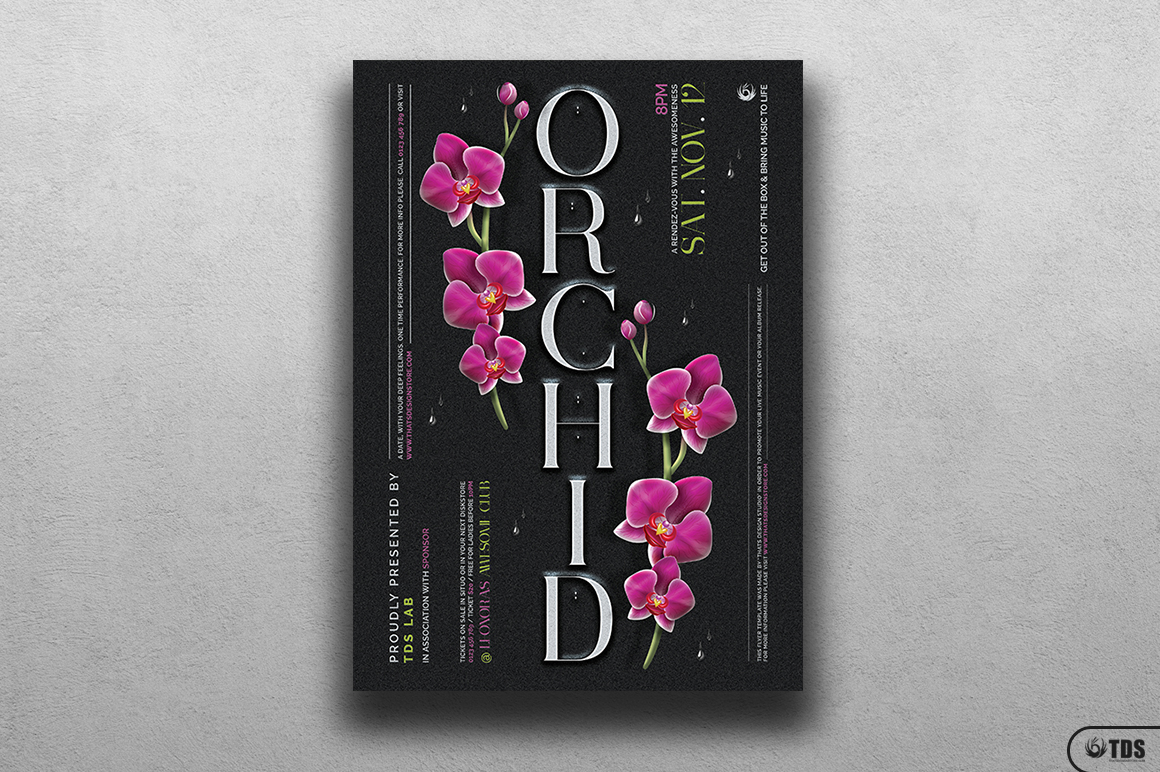 Orchid Flyer Template example image 1