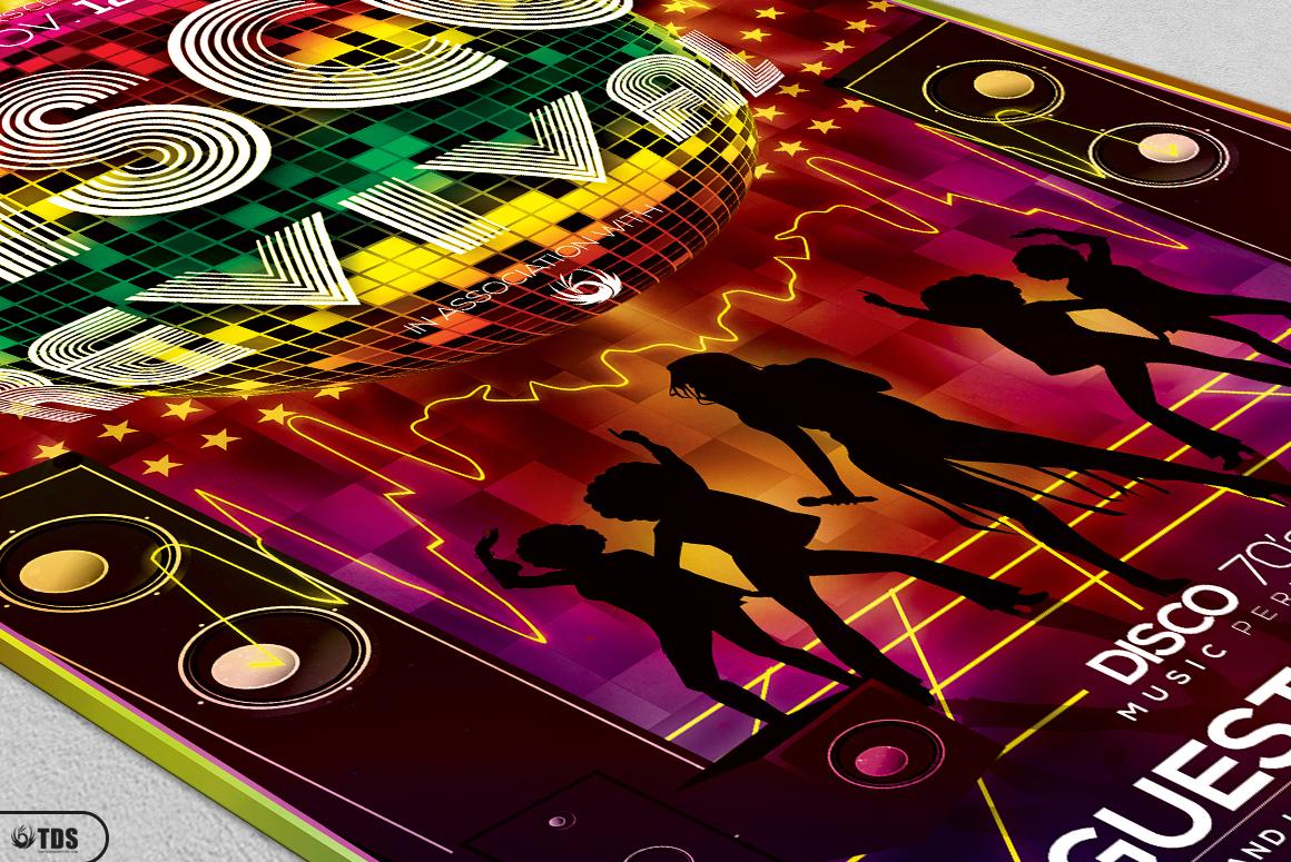 Disco Music Flyer Bundle V1 example image 10