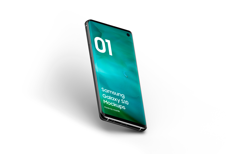 Samsung Galaxy S10 - 21 Mockups - 5K - PSD example image 18
