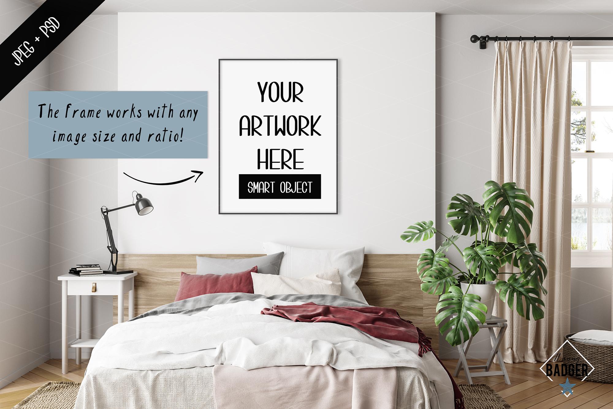 Interior mockup BUNDLE - frame & wall mockup creator example image 2