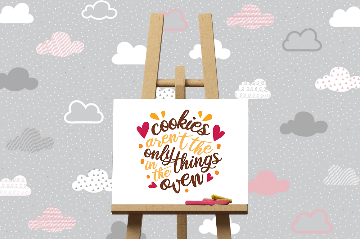 Pregnancy Announcement SVG Cut Files - Cookies example image 3